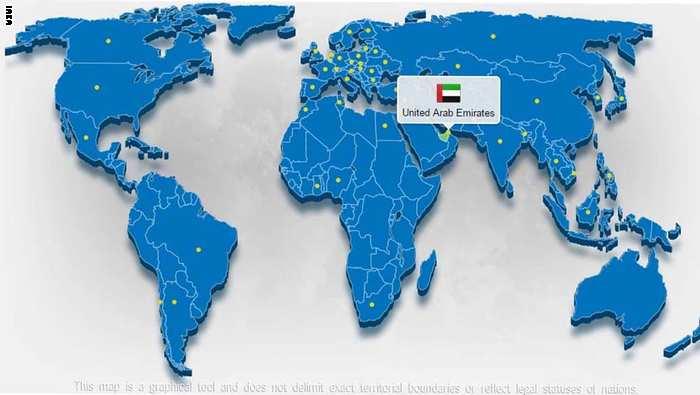 طهران تحتج على خريطة الإمارات وتتهمها بالتزوير