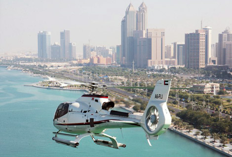 مهبط الطائرات بأبوظبي الأعلى في المنطقة العربية