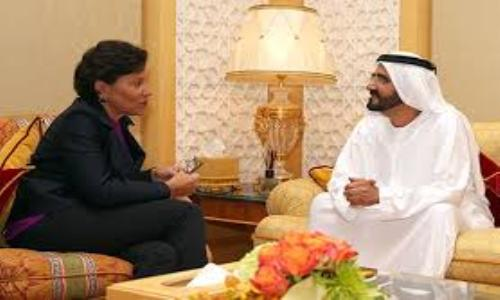 محمد بن راشد يستقبل وزيرة التجارة الخارجية الأميركية