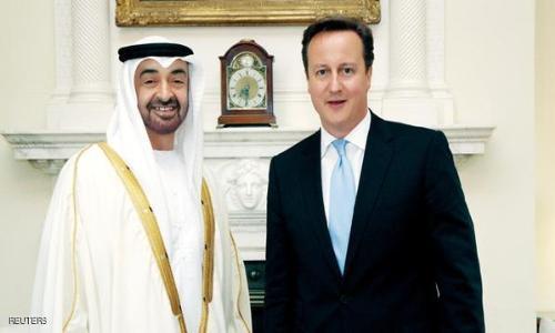 محمد بن زايد يلتقي رئيس الوزراء البريطاني