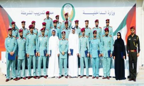 شرطة عجمان تحتفل بتخريج 53 منتسباً