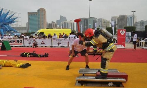 رجال الإطفاء حول العالم يتنافسون في أبوظبي