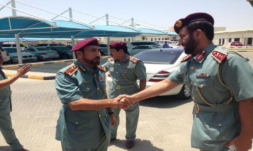 الشعفار يتفقد الخدمات المقدمة في شرطة عجمان
