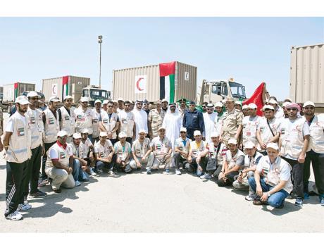 المستشفى الميداني الإماراتي في طريقه إلى غزة