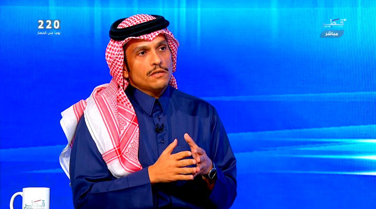 وزير خارجية قطر يكشف