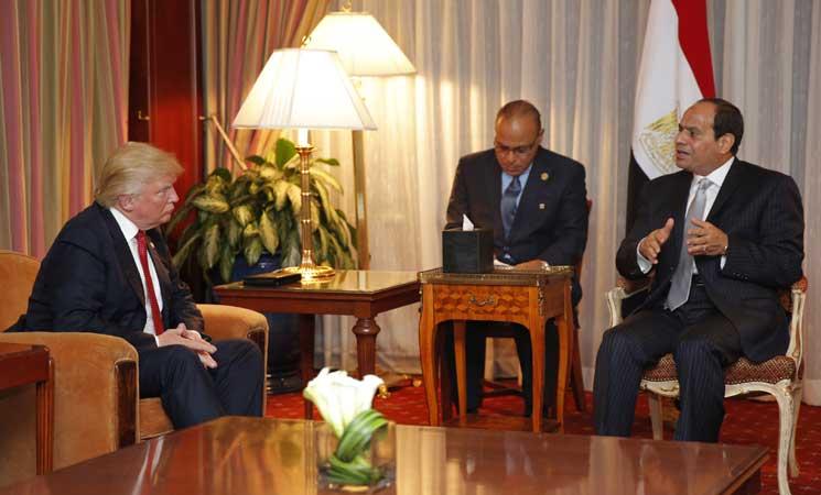 ترامب للسيسي: واشنطن ستكون صديقا وفيا لمصر