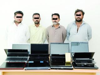 4 باكستانيين متهمين بالسرقة في قبضة الشرطة
