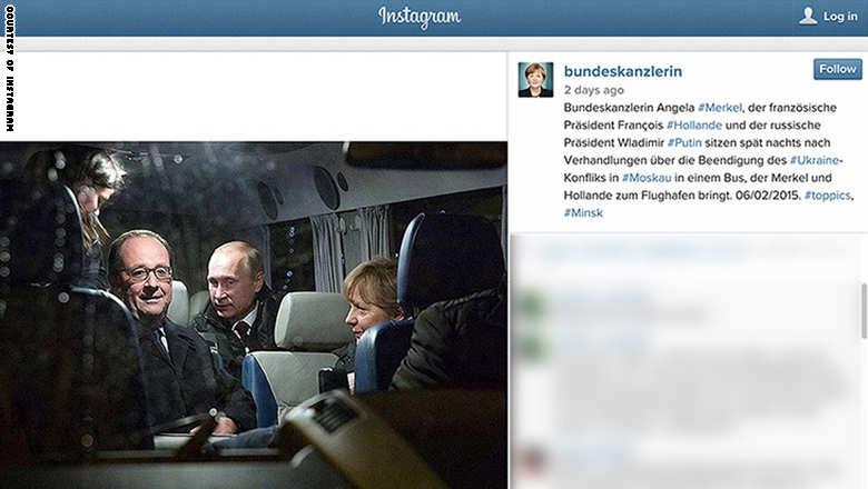 ميركل تنضم إلى عائلة  انستغرام  بصور لنشاطاتها الرسمية