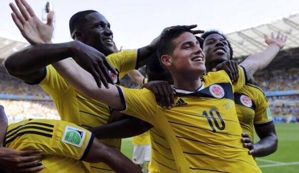 كولومبيا تتغلب على ساحل العاج بهدفين لهدف