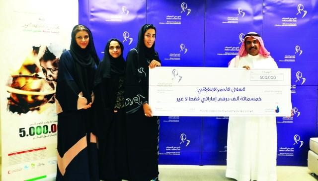 نادي دبي للسيدات يدعم سقيا الإمارات بـ500 ألف درهم