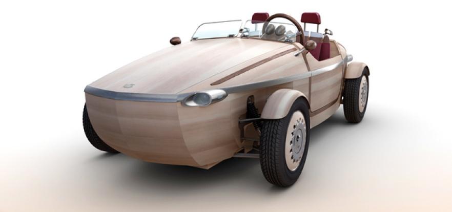 سيارة من الخشب بلا «براغي»