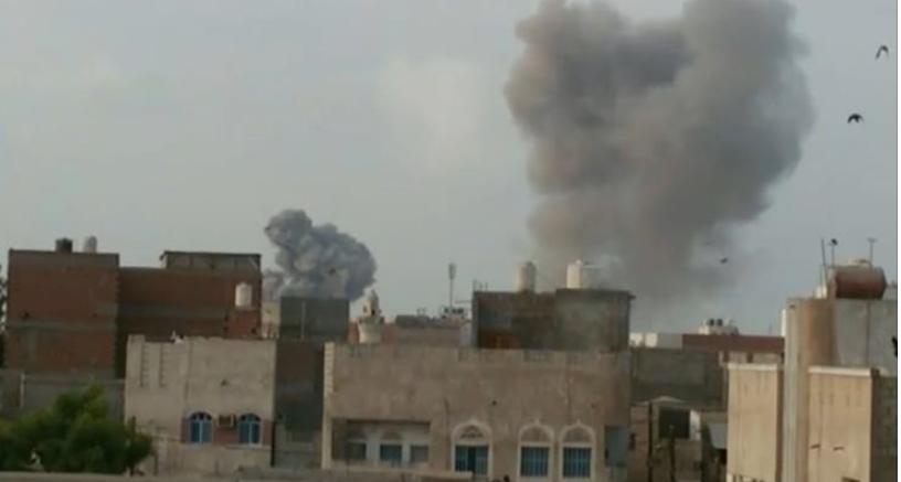 قصف مكثف للتحالف على صنعاء بعد اغتيال صالح