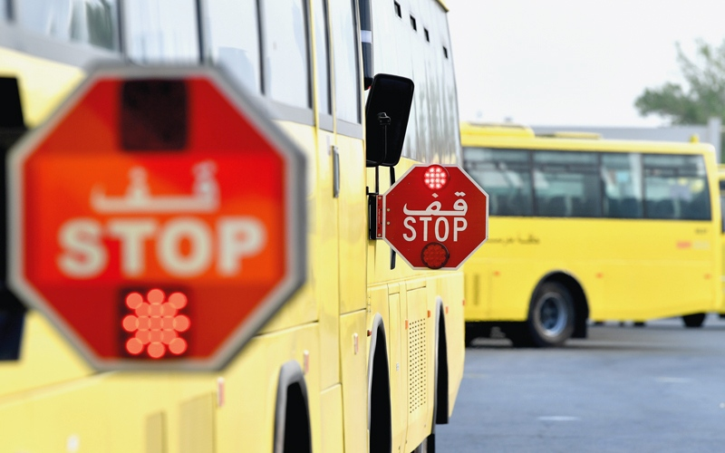 «خفاش» شرطة دبي لرصد متجاوزي الحافلات المدرسية عند توقفها