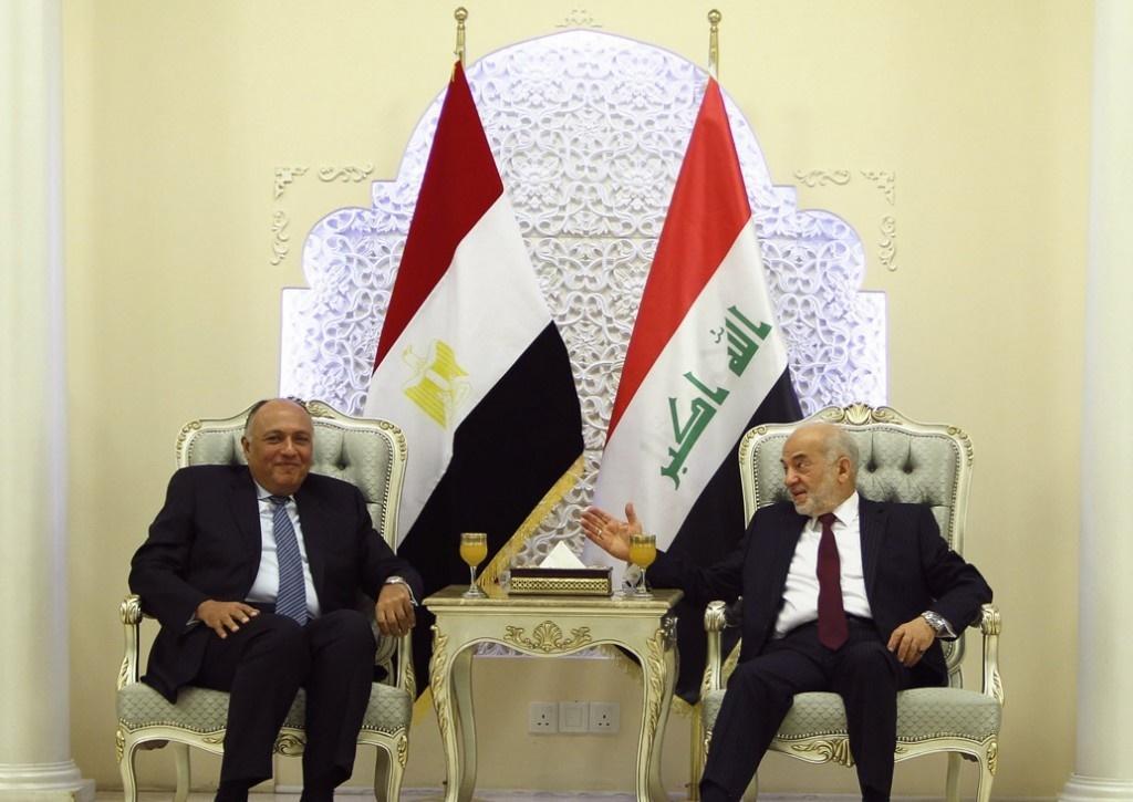 وزير الخارجية المصري يبحث في بغداد سبل محاربة الإرهاب