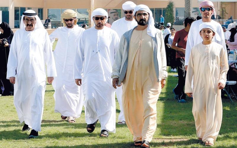 محمد بن راشد يشهد سباق كأس الصفوح للقدرة