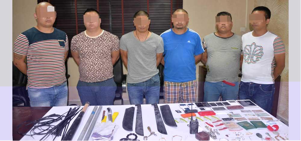 القبض على عصابة ملثمين تمارس السرقة بالغربية