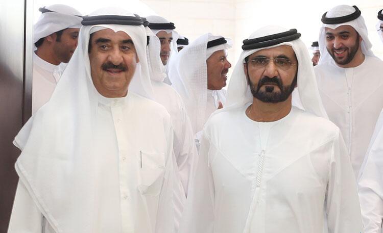 محمد بن راشد يزور حاكم أم القيوين