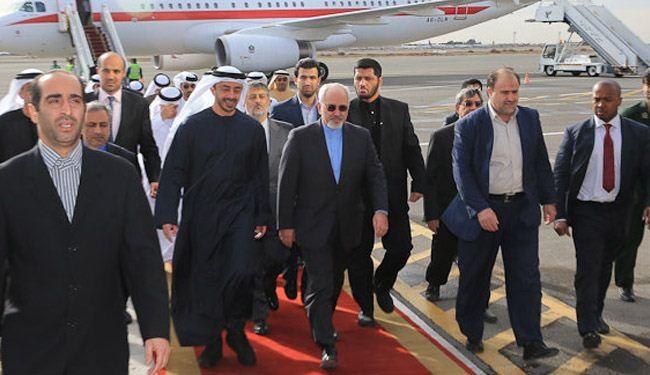 وزير الخارجية الإيراني في أبوظبي الثلاثاء لإبرام اتفاقيات مشتركة