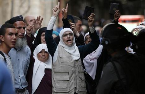 مواجهات بين المرابطين وقوات الاحتلال على مداخل مسجد الأقصى