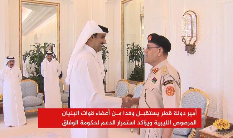 أمير قطر يستقبل وفدا من قوات