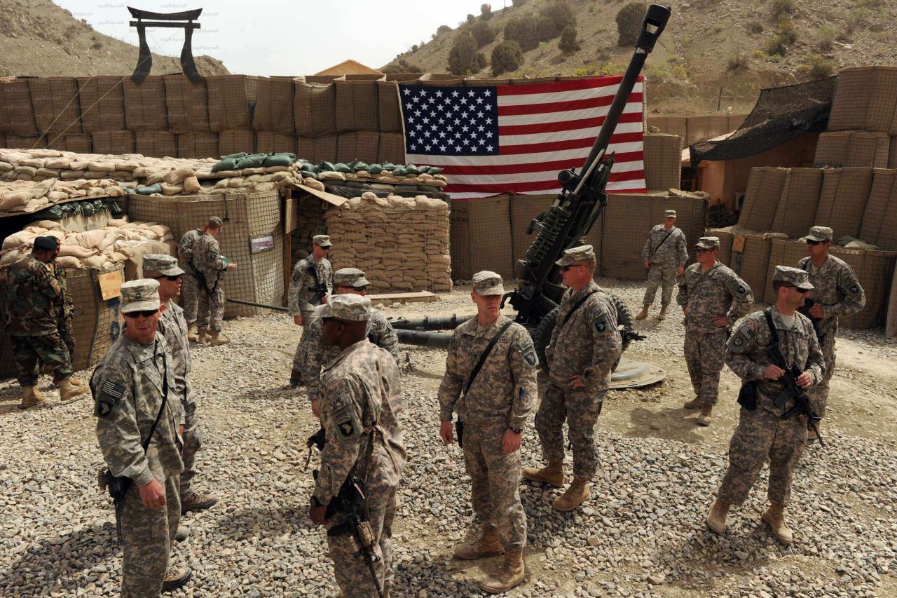 الجيش الأمريكي ينشئ قاعدة عسكرية شمالي الموصل