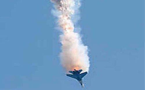تحطم طائرة إف 5 تابعة لسلاح الجو الملكي الأردني