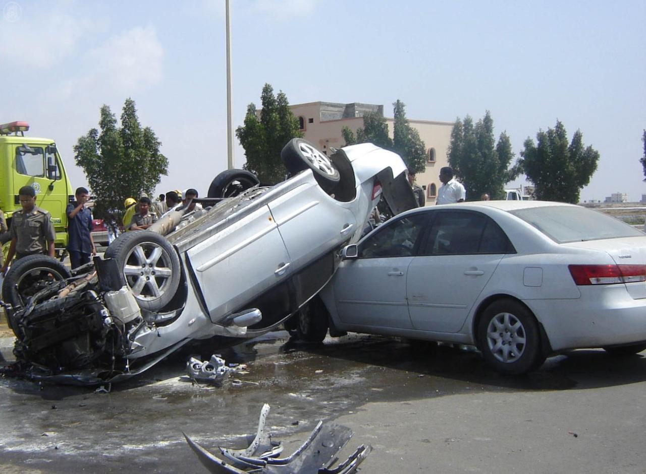 حادث مروري كل دقيقة و4 إصابات كل ساعة في السعودية
