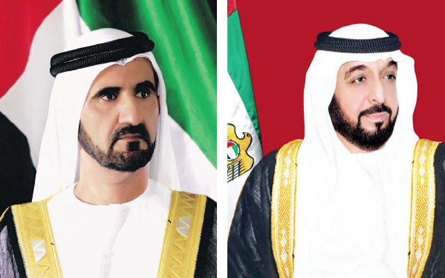 رئيس الدولة ونائبه يهنئان العاهل السعودي باختياره شخصية العام الثقافية