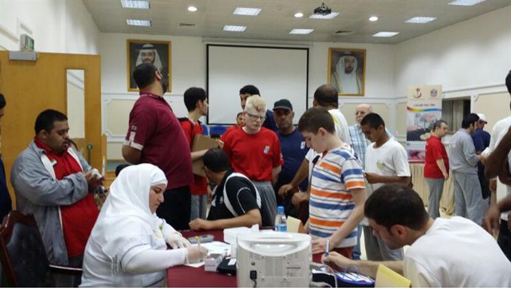 تواصل حملة صحة الموظف بمنطقة الشارقة الطبية