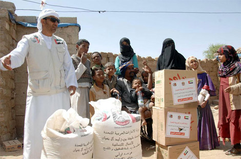 سفارة الإمارات في اليمن تبحث آلية توزيع مساعدات مؤسسة خليفة بن زايد