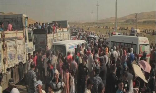 نظام الأسد يوقف دخول قوافل المساعدات الى سوريا