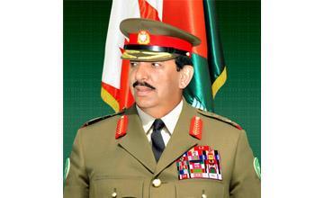 القائد العام لقوة دفاع البحرين  يلتقي  وفد عسكري سعودي