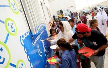 سيدات الشارقة تدعم مبادرة اقرأوا لأطفال سوريا بـ 30 ألف درهم