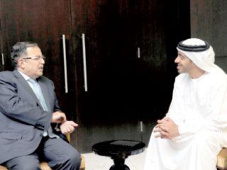 عبدالله بن زايد يلتقي رؤساء الوفود المشاركة في اجتماع تغير المناخ
