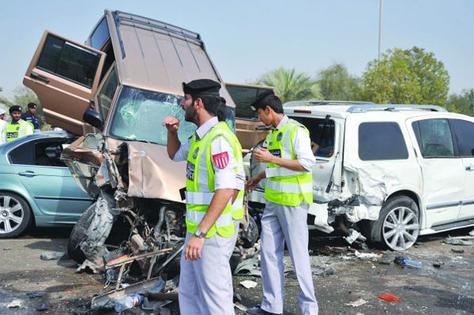 تراجع عدد وفيات الحوادث المرورية في أبوظبي خلال 9 أشهر