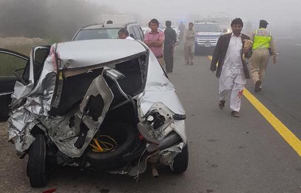 9 إصابات في حادث بين 28 مركبة على شارع الإمارات