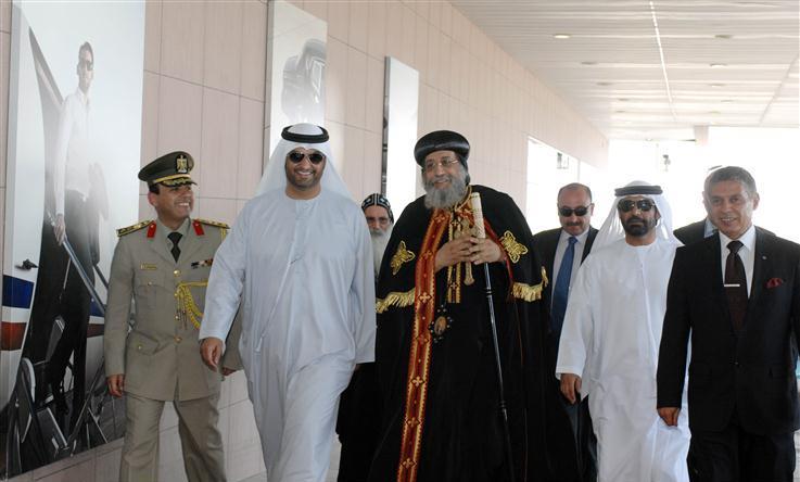البابا تواضروس الثاني يصل أبوظبي