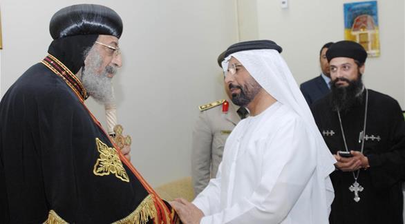 تواضروس يغادر الإمارات بعد زيارة استغرقت 5 أيام 
