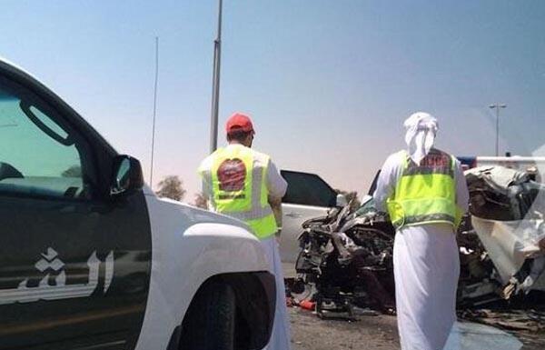 القبض على ناشري فيديو الحادث المروري بدبي