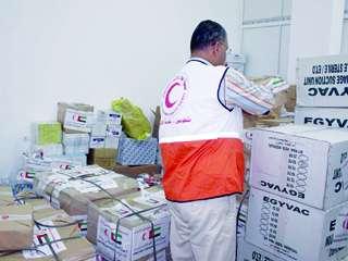 الهلال الأحمر الإماراتي يعتمد 58 مليون درهم للمساعدات الخارجية