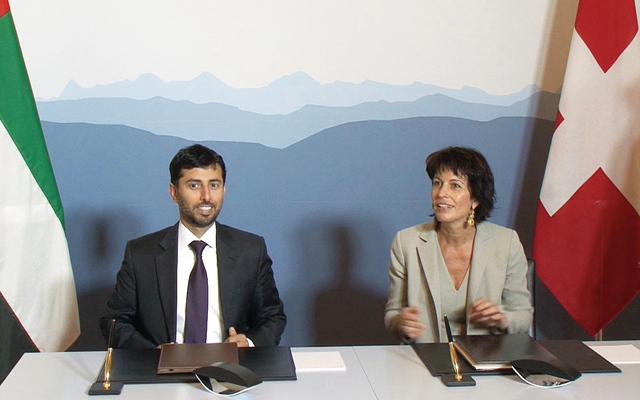مذكرة تفاهم بين الإمارات وسويسرا للتعاون في مجال الطاقة والمياه