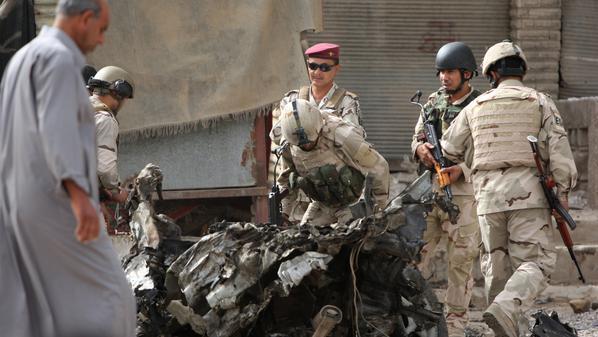 تفجير يستهدف نقطة تفتيش قرب منزل العبادي في بغداد