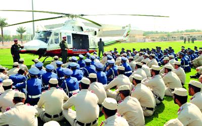 تدريب طاقم الطبي على التعامل مع الإسعاف الجوي