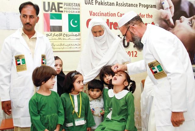 الإمارات تنفذ حملة لتطعيم 3,6 مليون طفل باكستاني