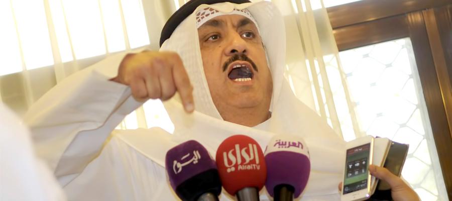 الكويت: البراك يتهم الشيخ ناصر المحمد بالفساد ويعرض وثائق