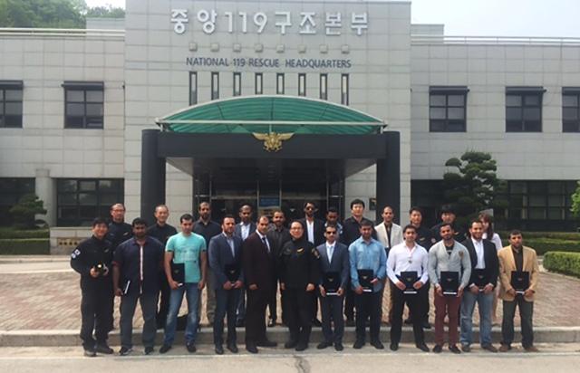 16 ضابطاً إماراتياً يتدربون بكوريا الجنوبية على التعامل مع المواد الخطرة