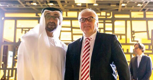 محمد بن زايد يجري مباحثات مع وزير خارجية ألمانيا