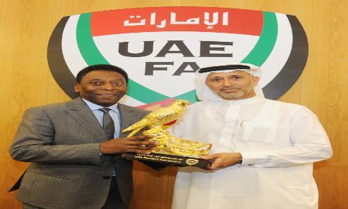 بيليه يزور مقر اتحاد الكرة الإماراتي
