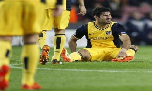 إصابة كوستا لاعب أتلتيكو مدريد في عضلات الفخذ الخلفية