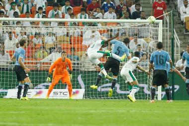 انتهاء مباراة السعودية والأوروجواي بالتعادل الإيجابي